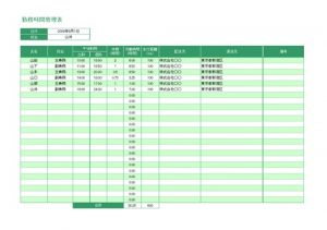 勤務時間管理表